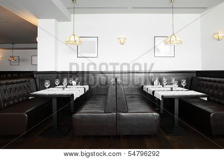 Beautiful Interior Of Modern Restaurant