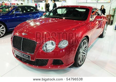 Bkk - Nov 28: Bentley Continental Gt Speed, Luxury Car,on Display At Thailand International Motor Ex