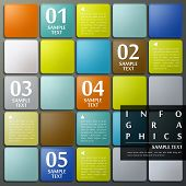 realistic vector abstract 3d grid infographic elements poster