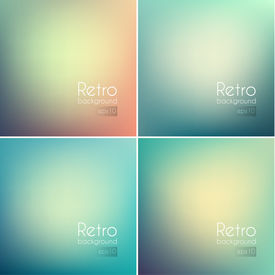 Smooth colorful backgrounds collection with aged effect - eps10