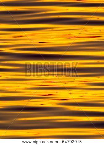 Wavelets on the surface of sunset lake