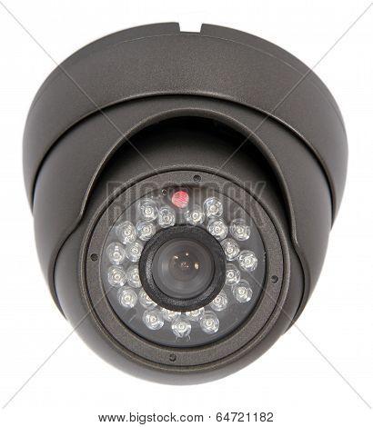 Security Camera On White Background. Isolated