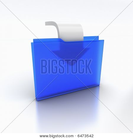 Blue Folder With Arrow