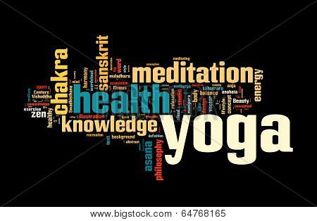 YOGA. Word cloud concept