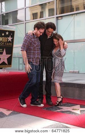 LOS ANGELES - MAY 9:  Joshua Springfield, Rick Springfield, Barbara Porter Springfield at the Rick Springfield Hollywood Walk of Fame Star Ceremony at Hollywood Blvd on May 9, 2014 in Los Angeles, CA