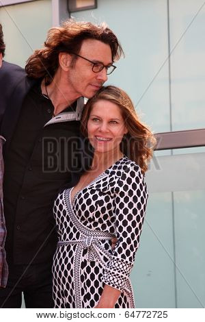 LOS ANGELES - MAY 9:  Rick Springfield, Barbara Porter Springfield at the Rick Springfield Hollywood Walk of Fame Star Ceremony at Hollywood Blvd on May 9, 2014 in Los Angeles, CA
