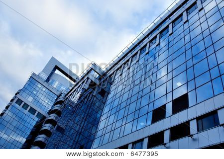 Reflection Of Glass Wall In Business Center