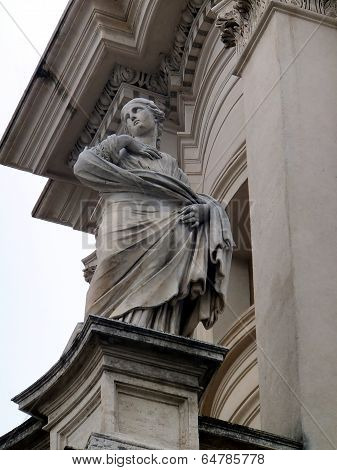Sant Agnes, Rome, Italy - Detail Sant' Agnese In Agone Church In Piazza Navona