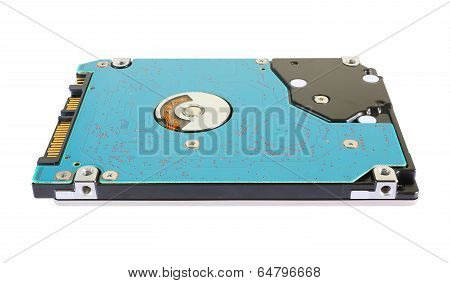 Hard disk drive isolated on a white background. poster