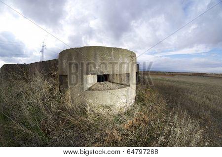 bunker used in the Spanish civil war, Tosos, Saragossa, Aragon, Spain poster