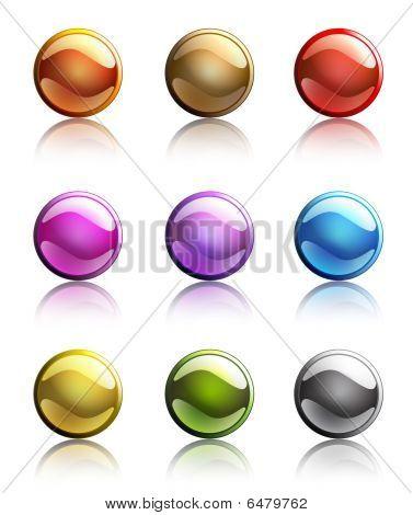 Dark Round Buttons