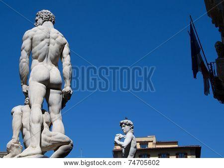 Piazza Della Signoria Statues