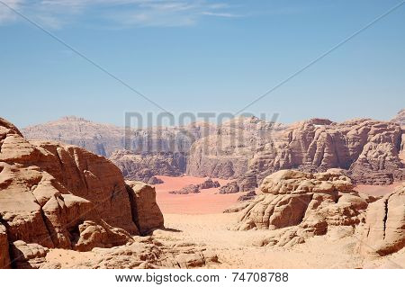 Wadi Rum Mountain Landscape, Jordan