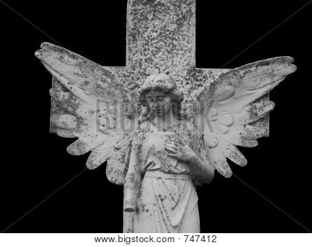 Gothic Angel isolated on black