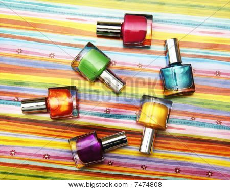 Colour Vials Of Nail Polish