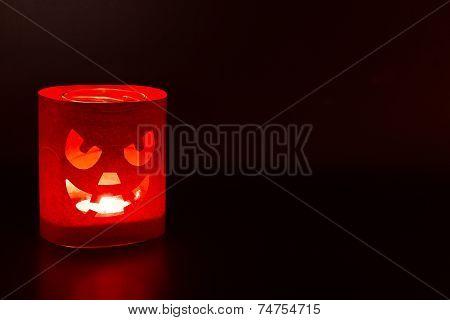 Jack-o-lantern On A Dark