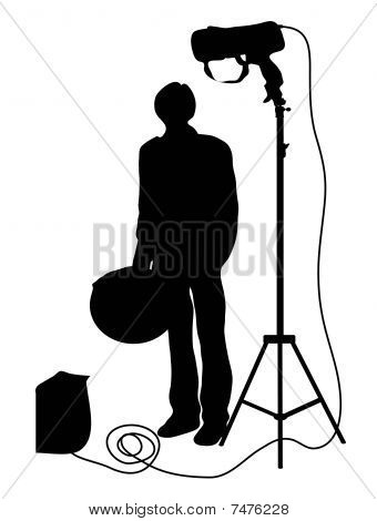 assistant of the photographer