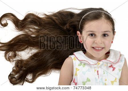 Beautiful Smiling Girl With Beautiful Hair
