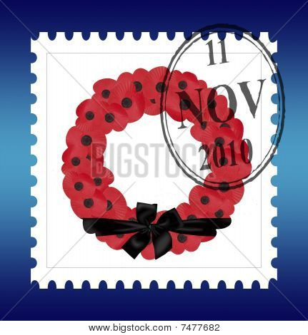 remembrance sunday wreath vector