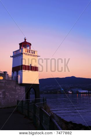 The Brockton Point Lighthouse in Stanley Park, Vancouver, BC, Canada poster