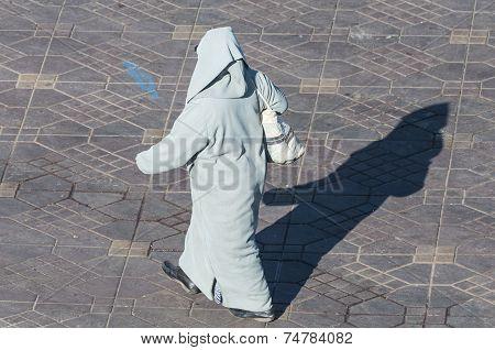 Berber Woman Wearing Jalabiya