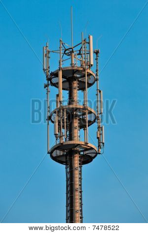 Telecommunication tower.