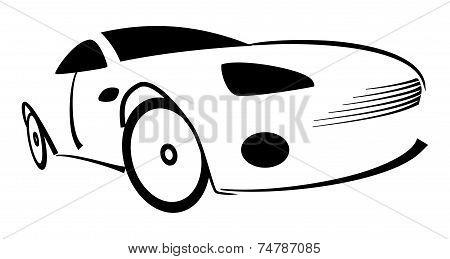 Racing Car Silhouette - Illustration