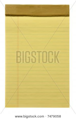Yellow Lined Note Pad