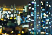 Blur cityscape poster