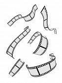 film strip roll design elements set poster
