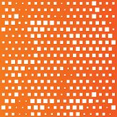 Squares pattern background. Abstract wallpaper with rectangles. Orange background. Vector poster