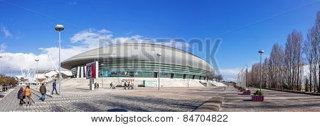Lisbon, Portugal - February 01, 2015: Atlantico Pavilion (Pavilhao Atlantico), currently called MEO Arena, in Park of Nations (Parque das Nacoes)