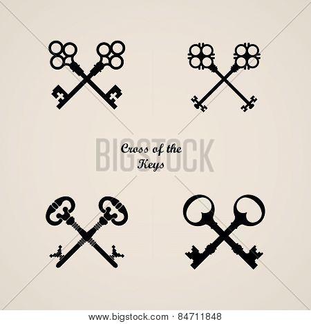 Key icon. Logo with key.