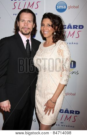 LOS ANGELES - FEB 22:  Sean McNabb, Christine Devine at the Night of 100 Stars Oscar Viewing Party at the Beverly Hilton Hotel on February 22, 2015 in Beverly Hills, CA