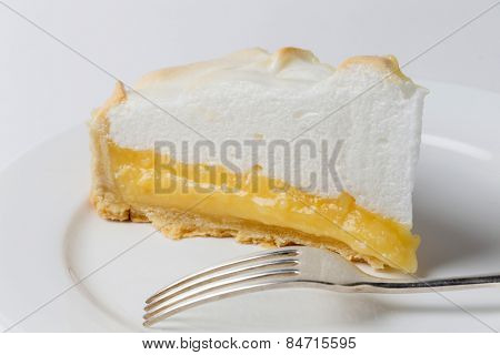 Homemade lemon meringue pie, a classic of European dessert cuisine