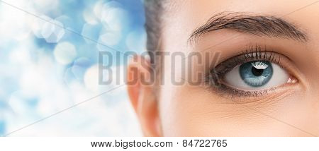 Beautiful Woman's Eye Close-up