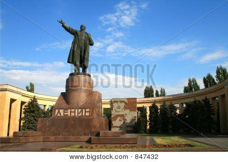 sculpture of Lenin in Volgograd Russia wide horizontal