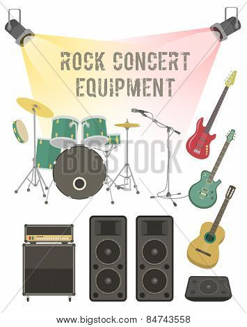 Rock concert equipment