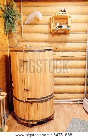 Mini phyto sauna - Cedar barrel poster