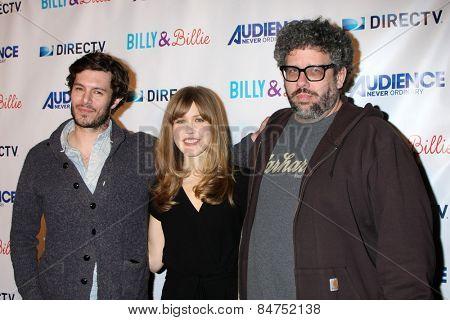LOS ANGELES - FEB 25:  Adam Brody, Lisa Joyce, Neil LaBute at the