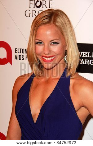 LOS ANGELES - FEB 22:  Amy Paffrath at the Elton John Oscar Party 2015 at the City Of West Hollywood Park on February 22, 2015 in West Hollywood, CA