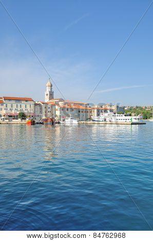 Krk Town,krk Island,adriatic Sea,Croatia