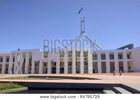 Parliament Of Australia Building In Canberra