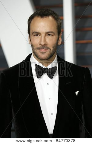 LOS ANGELES - FEB 22:  Tom Ford at the Vanity Fair Oscar Party 2015 at the Wallis Annenberg Center for the Performing Arts on February 22, 2015 in Beverly Hills, CA