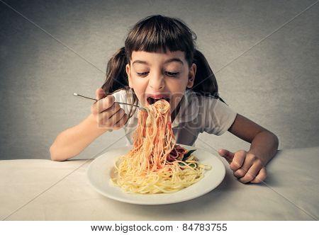 Eating pasta  poster