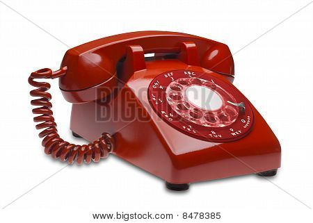 Red phone, isolated