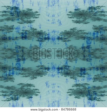 Abstract seamless fractal blue gray background