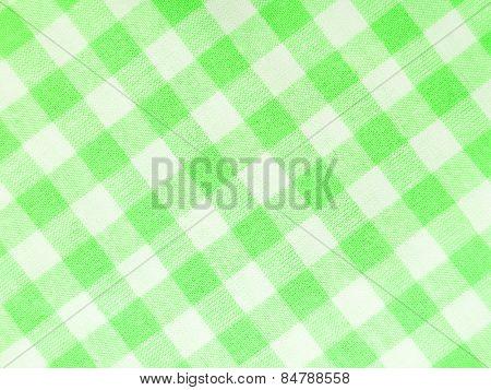 Green checked textile full frame