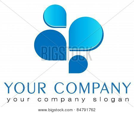 Logo template, banking, charity, funds