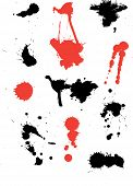 Various ink splats poster
